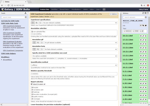 SIRV-SUITE-Exp-Evaluator-page